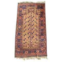 Late 19th Century Baluch Prayer Rug with Camel Ground