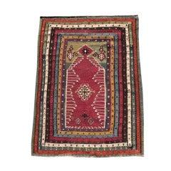 Mid 19th Century Vibrant Multi-Colored Turkish Reyhanli Kilim Rug