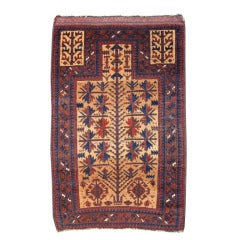 Late 19th Century Red Baluch Prayer Rug with Camel Field