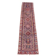 Afshar Runner with Unusual Mix of Nomadic and Urban Design Motifs, circa 1900
