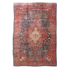 19th Century Fereghan Sarouk Carpet with Classic Medallion and Garden Design