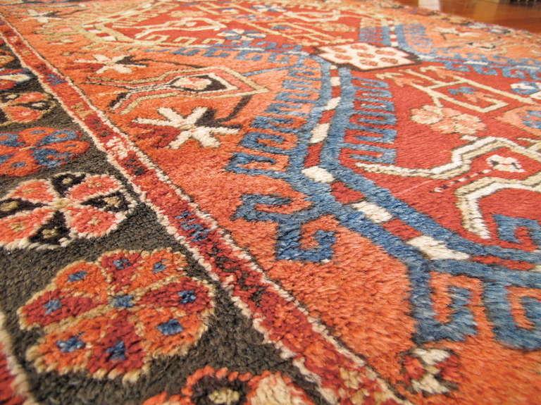 Wool Anatolian Konya Rug with Apricot Hues For Sale
