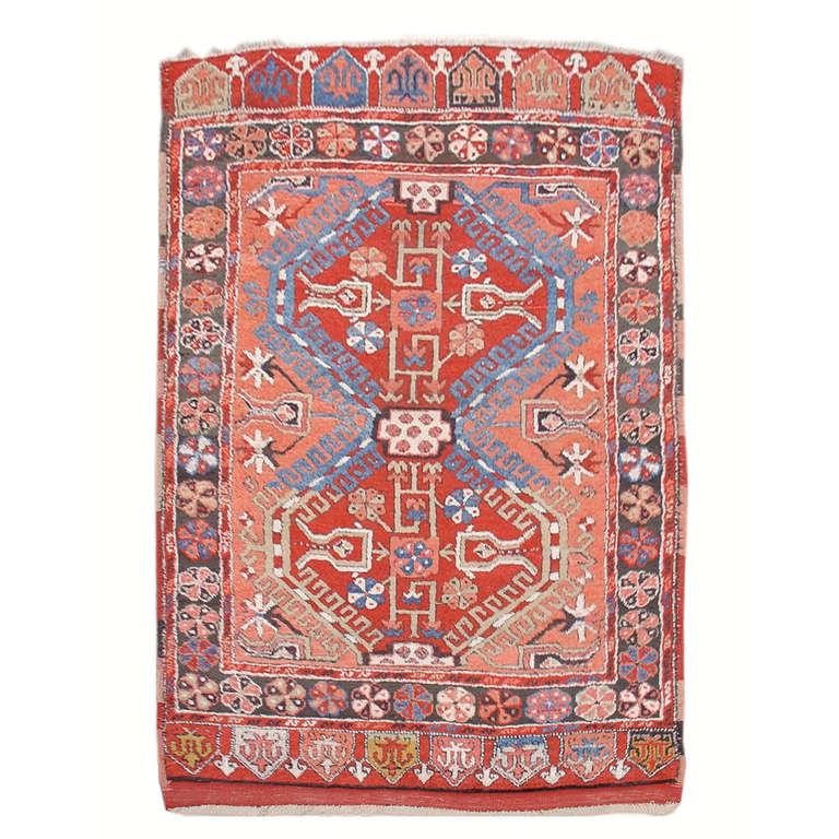Anatolian Konya Rug with Apricot Hues For Sale