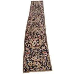 19th Century Karabagh Runner Inspired by European Floral Design