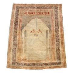 Luscious All Silk Perisan Tabriz Prayer Rug