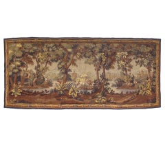 Mid 19th Century Forested Aubusson Tapestry