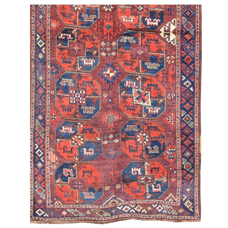 Early 20th Century Red And Blue Karakalpak Long Rug For Sale At 1stdibs