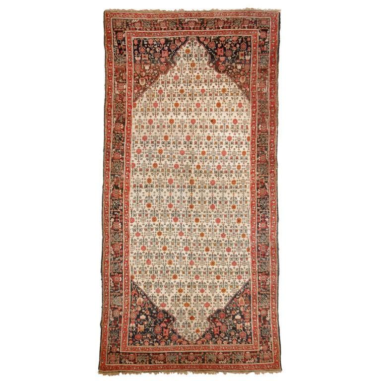 Deep Burgundy Indian Agra Rug For Sale At 1stdibs: 19th Century Agra Carpet For Sale At 1stdibs