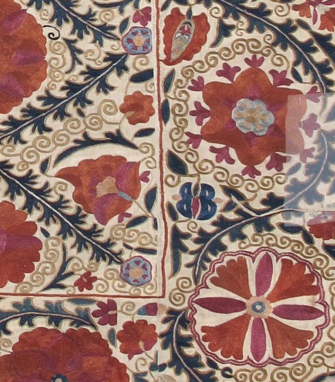 Uzbek Antique Suzani Textile