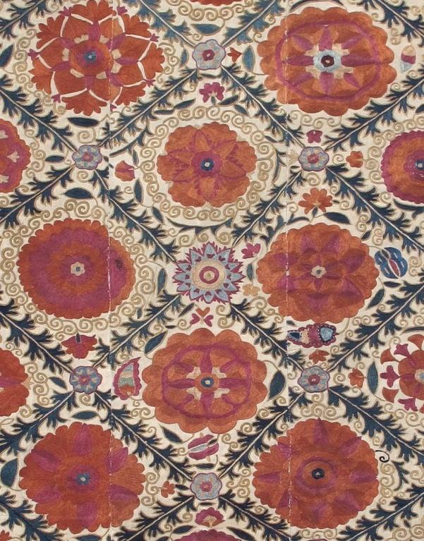 19th Century Antique Suzani Textile