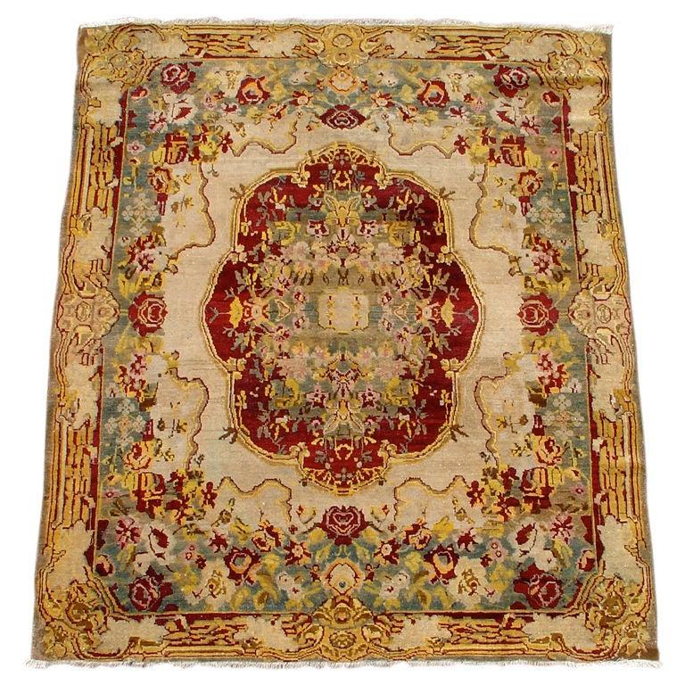 Indian Agra carpet, late 19th century