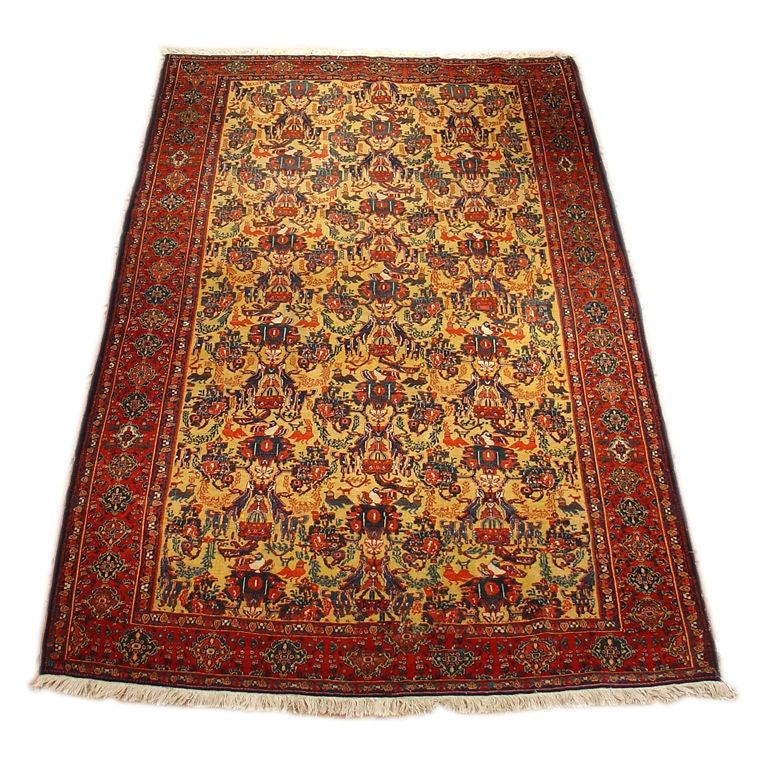 19th Century Persian Senneh Rug At 1stdibs