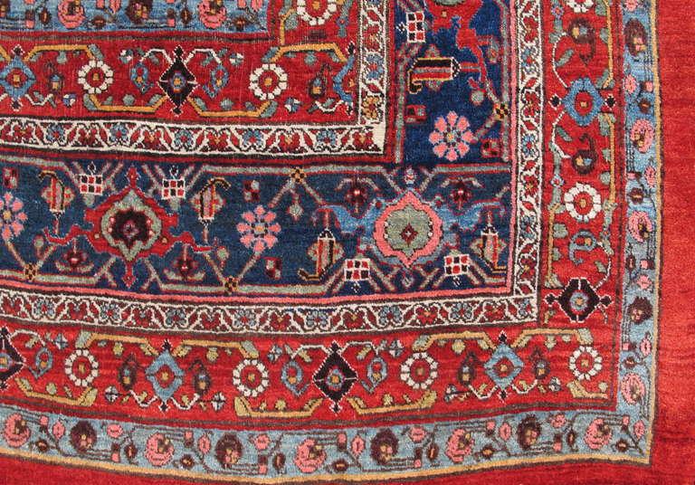 Late 19th Century Room Sized Red Bidjar Carpet 6
