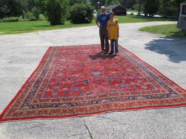 Late 19th Century Room Sized Red Bidjar Carpet 3
