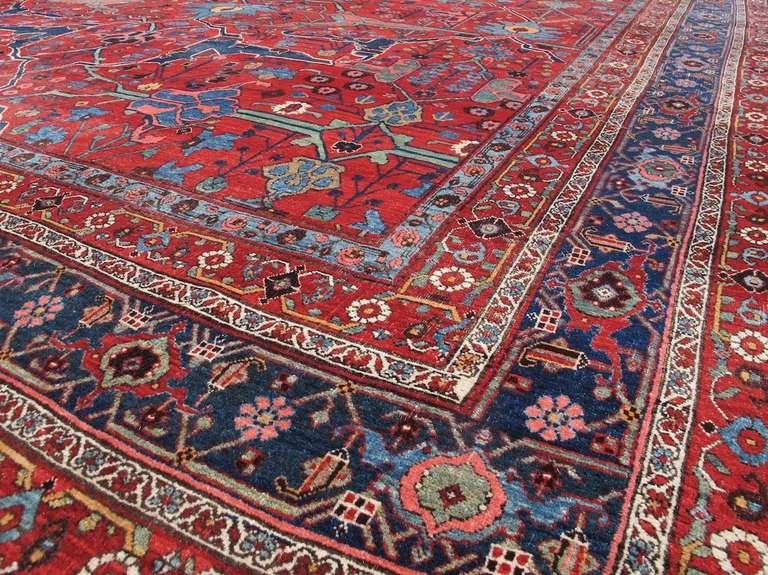 Late 19th Century Room Sized Red Bidjar Carpet 7