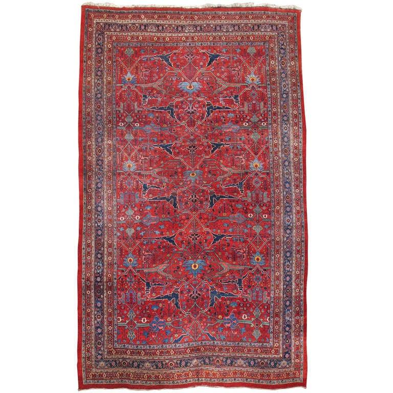 Late 19th Century Room Sized Red Bidjar Carpet 2