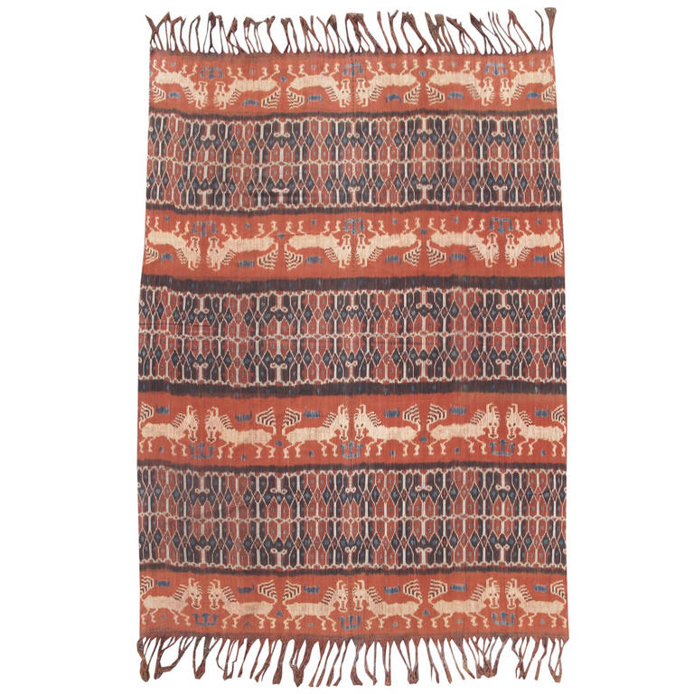 Indonesian Ikat With Stylized Horses For Sale At 1stdibs