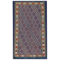 19th Century Fine Silk Flat-Weave