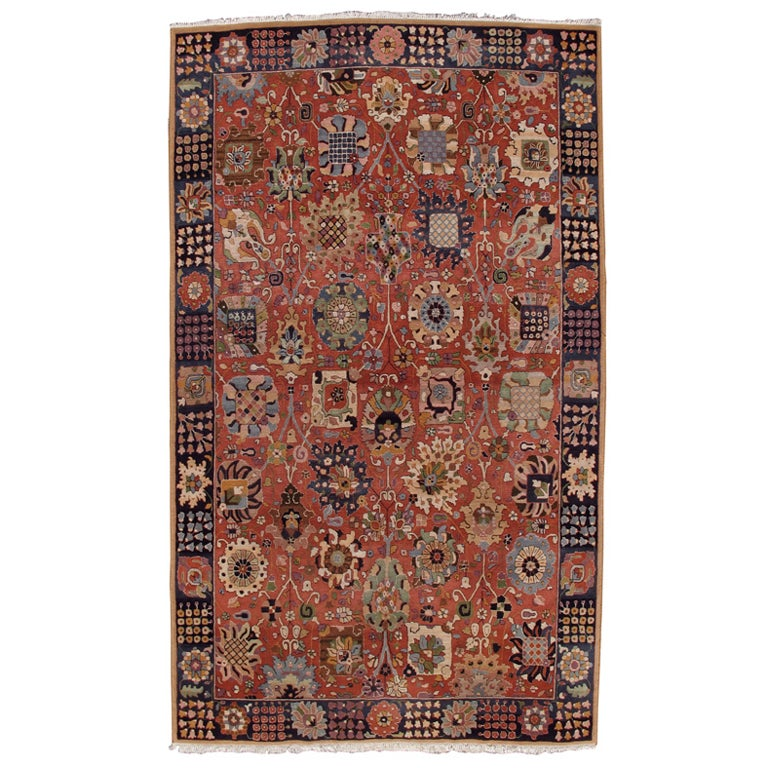 Vintage German Hooked Rug At 1Stdibs-9757