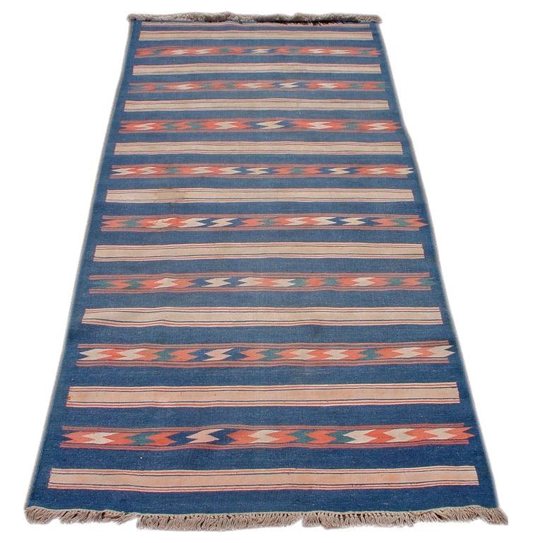 Vintage Flat Weave Dhurrie For Sale At 1stdibs