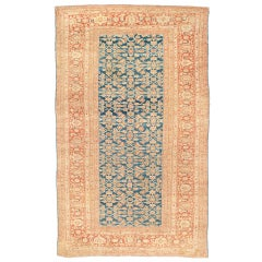 Late 19th Century Sultanabad Carpet with Light Blue Ground
