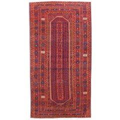 Mid 19th Century Red Bashir Gallery-Sized Carpet