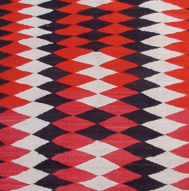 simple navajo designs. This Scatter-sized Navajo Rug With A Design Of Linked Diamonds In Adjoining Rows Exemplifies Simple Designs S