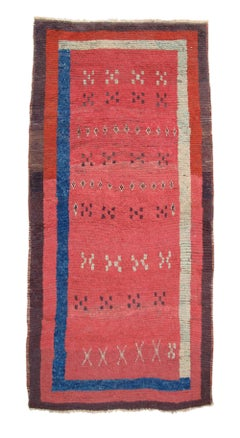 Mid 19th Century Red Anatolian Village Rug