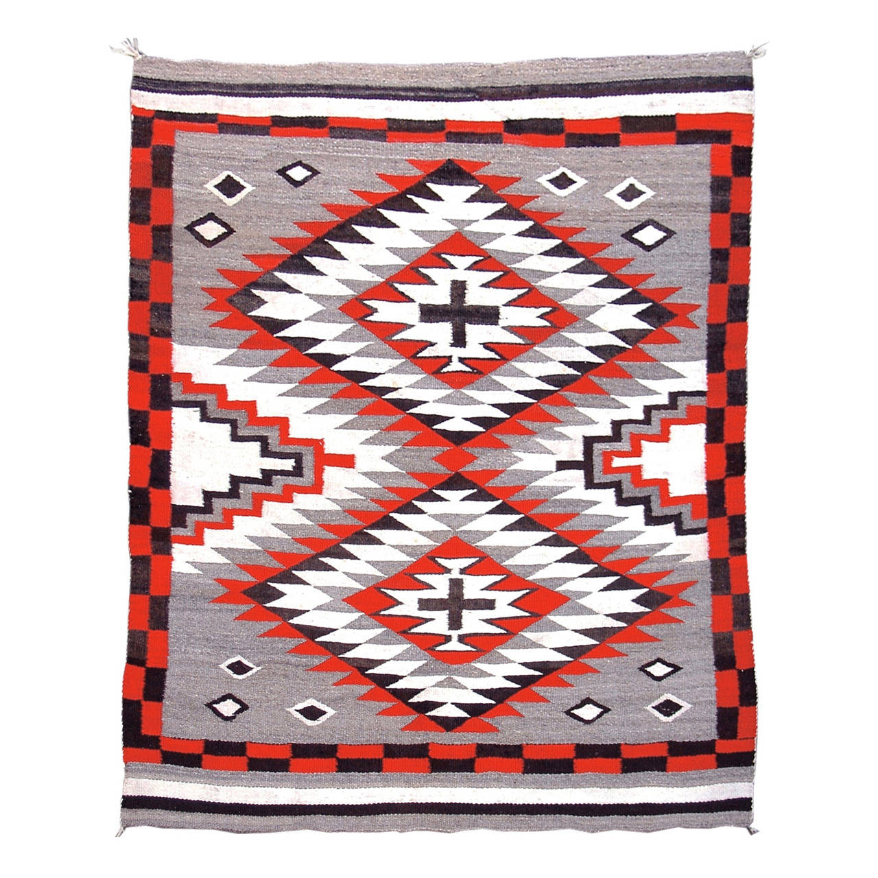 Early 20th Century Red and Grey Navajo Rug