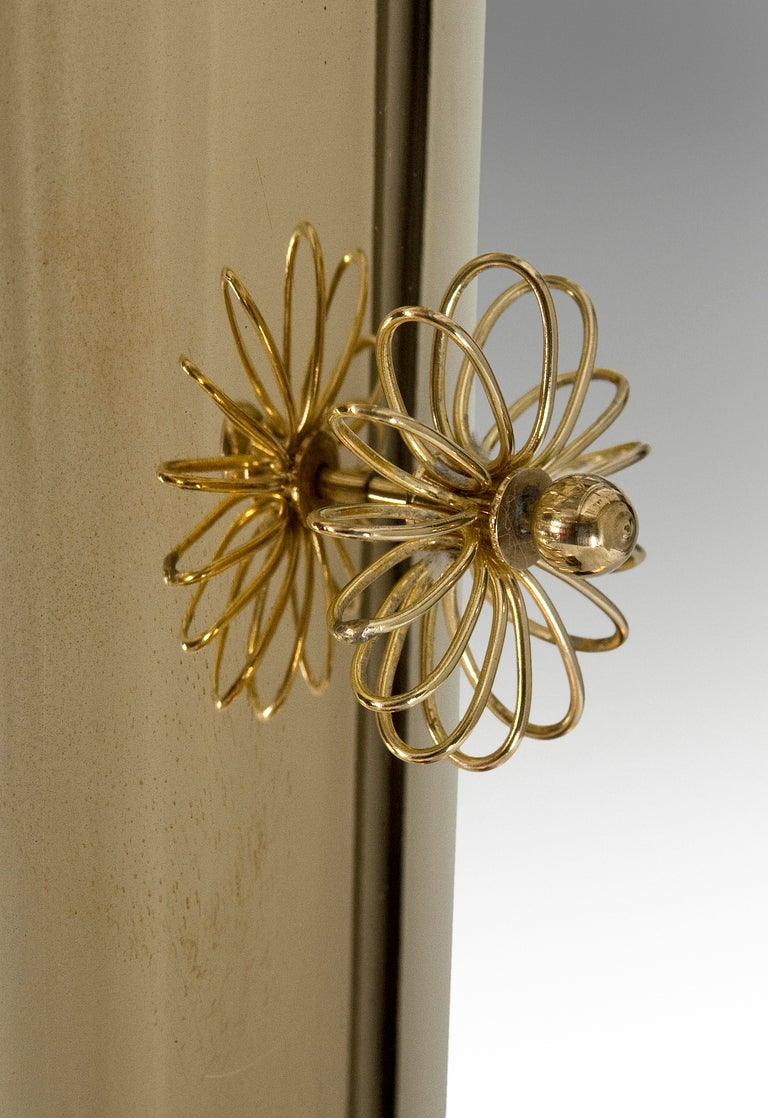 A Brass and Opaline Glass Chandelier by Paavo Tynell 3