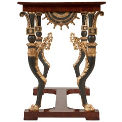 A Russian Neoclassical Parcel-Gilt Mahogany Center / Console Table