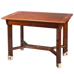 A Swedish Mother-Of-Pearl and Boxwood Inlaid Mahogany Table