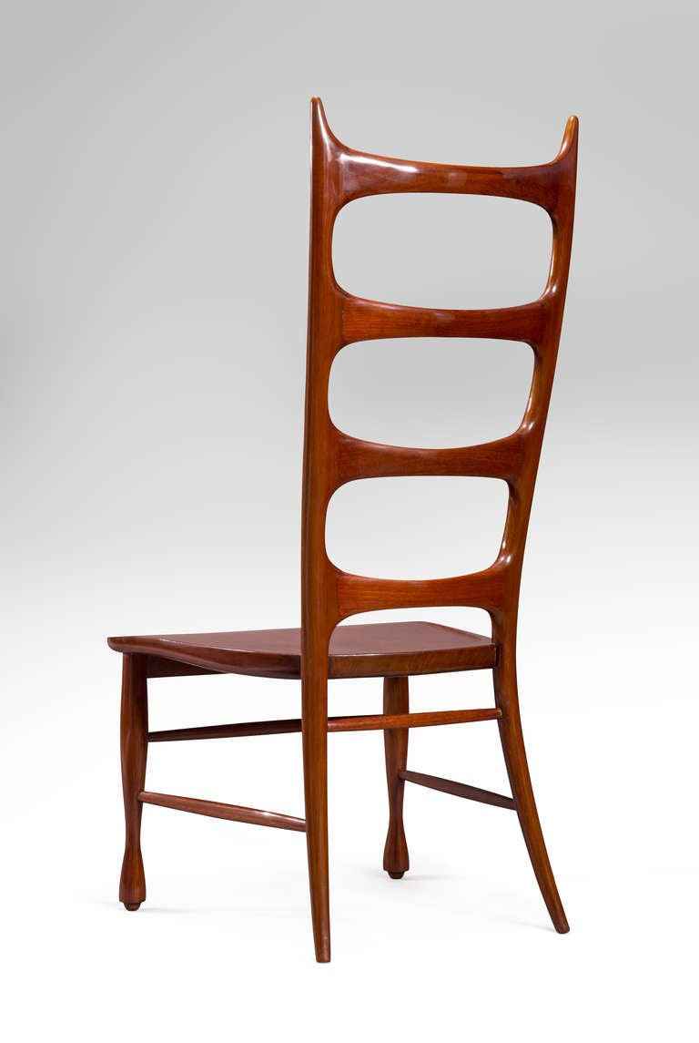 Paolo Buffa, a Pair of Mahogany Ladder-Back Chairs For Sale 1