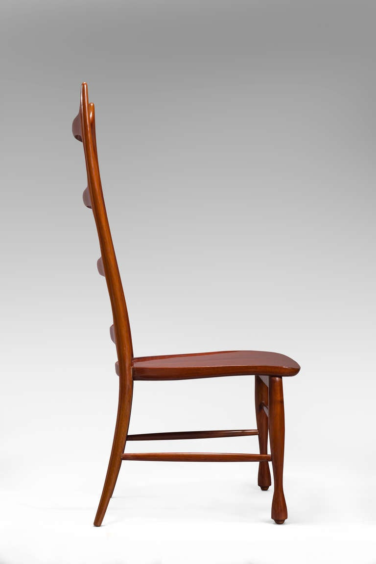 Mid-20th Century Paolo Buffa, a Pair of Mahogany Ladder-Back Chairs For Sale