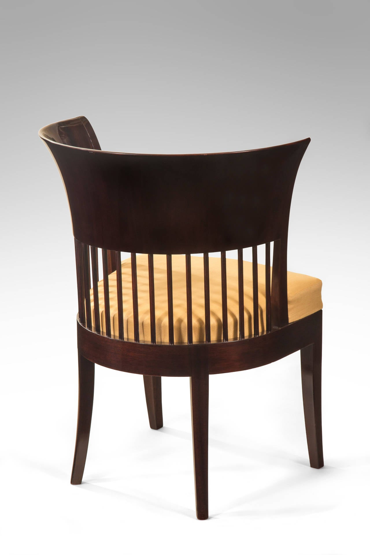 Unusual Danish Jugendstil Mahogany Chair 4