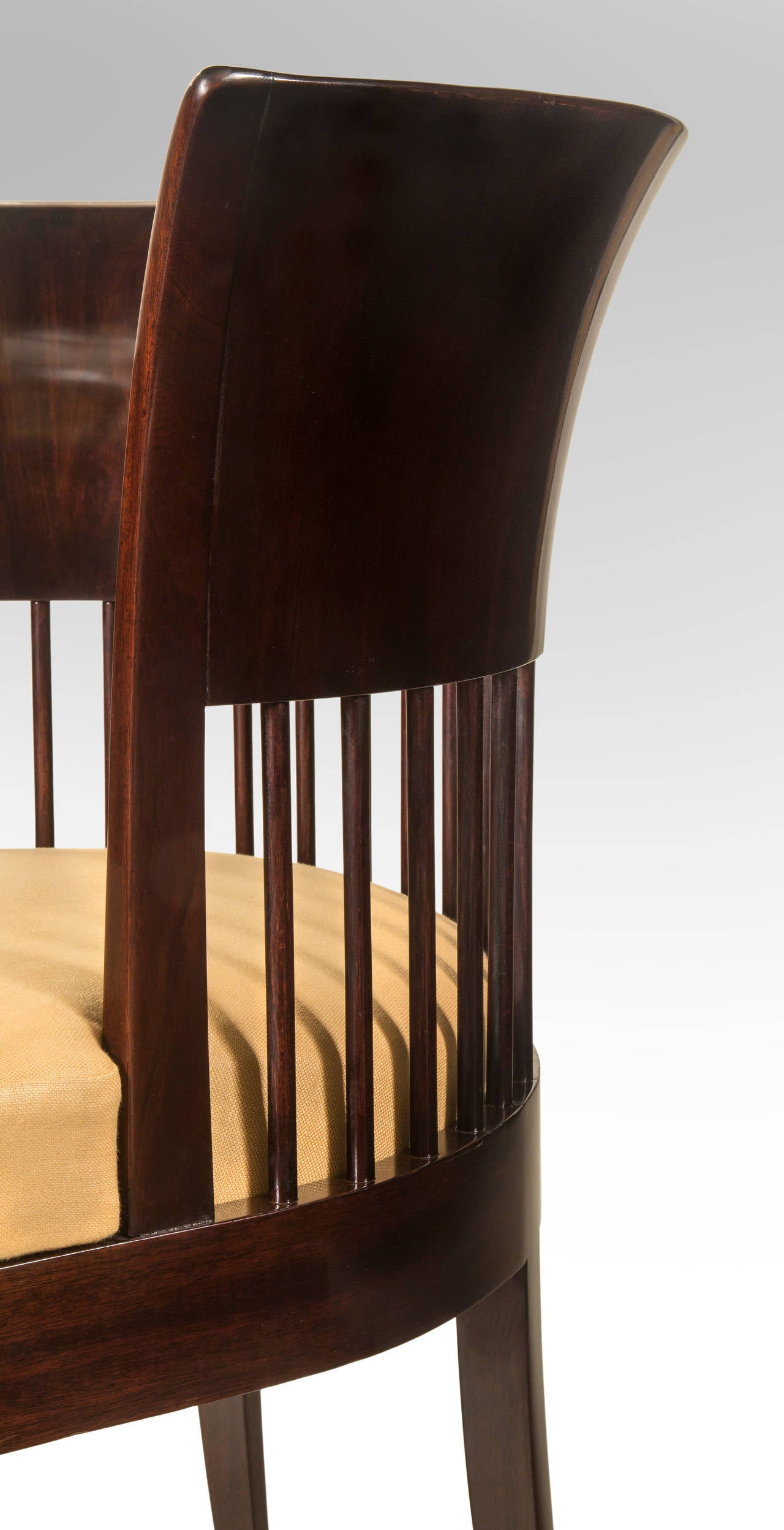 Unusual Danish Jugendstil Mahogany Chair 5
