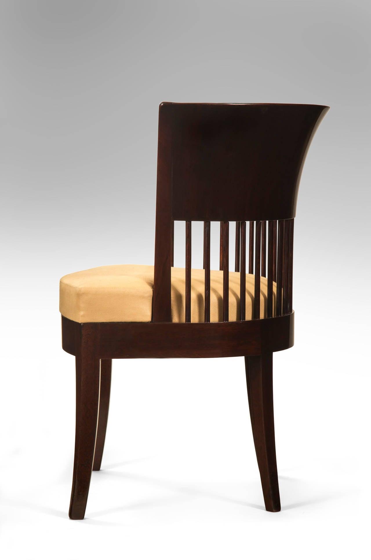 Unusual Danish Jugendstil Mahogany Chair 3