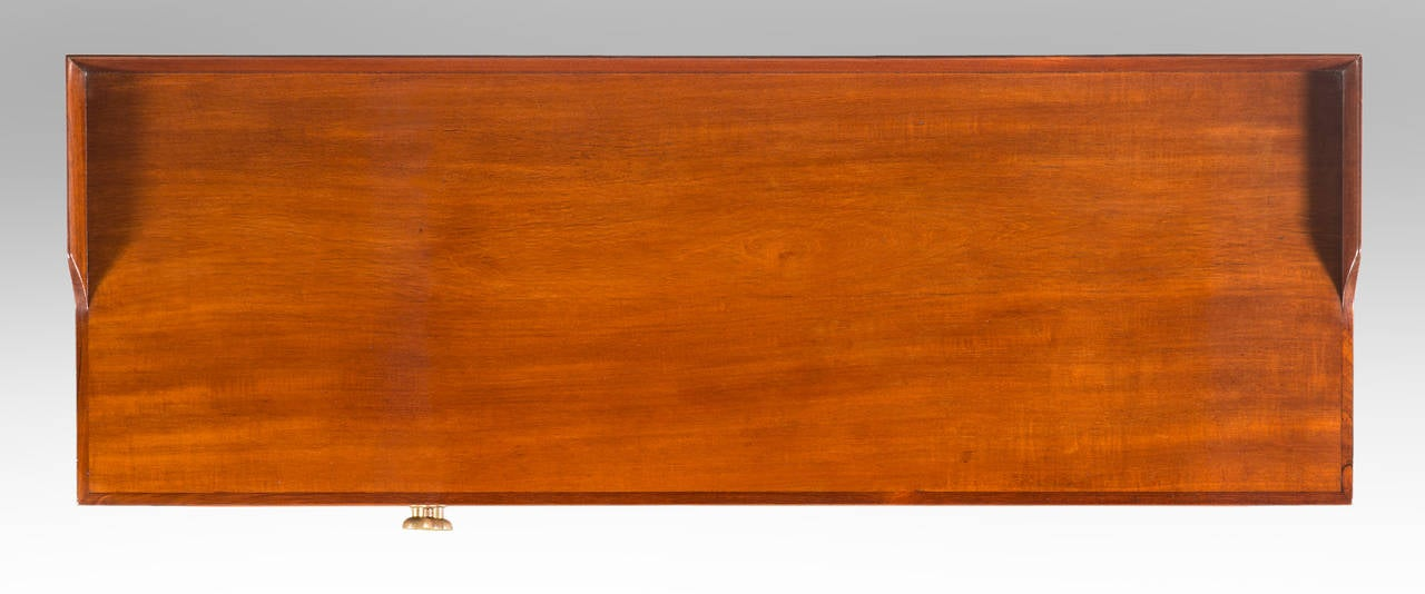 Mid-20th Century Paolo Buffa, a Pair of Brass Mounted Mahogany Side Tables or Cabinets For Sale