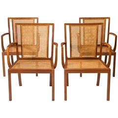 Rud, Rasmussen, a Rare Set of Four Danish Mahogany Armchairs