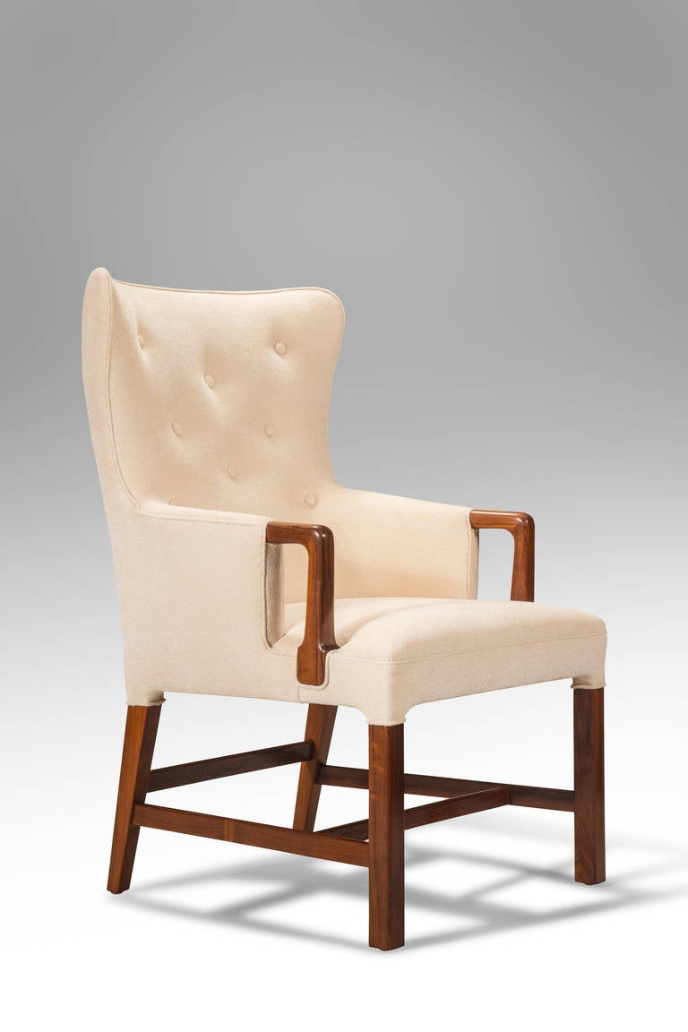 This four wishbone chairs by hans wegner is no longer available - Peter Hvidt A Set Of 12 Danish Rosewood Armchairs At 1stdibs