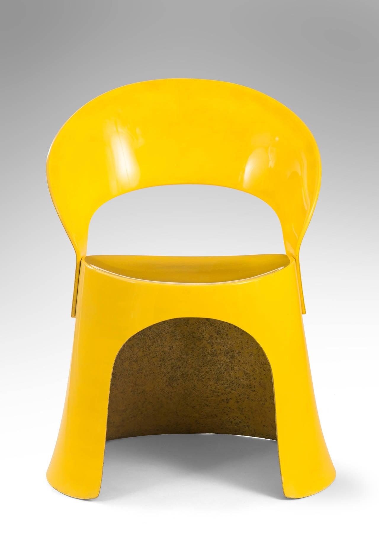 Danish Nanna Ditzel for Oddense Maskinsnedkeri, A Rare Set of 3 Fiberglass Chairs For Sale