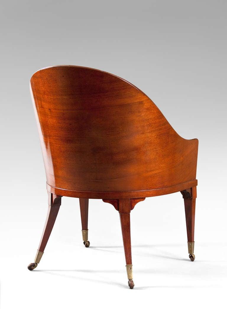 A Rare Swedish Neoclassical Mahogany Armchair at 1stdibs