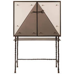 Garouste & Bonetti for Galerie Neotu: A Wrought Iron and Terracotta Cabinet