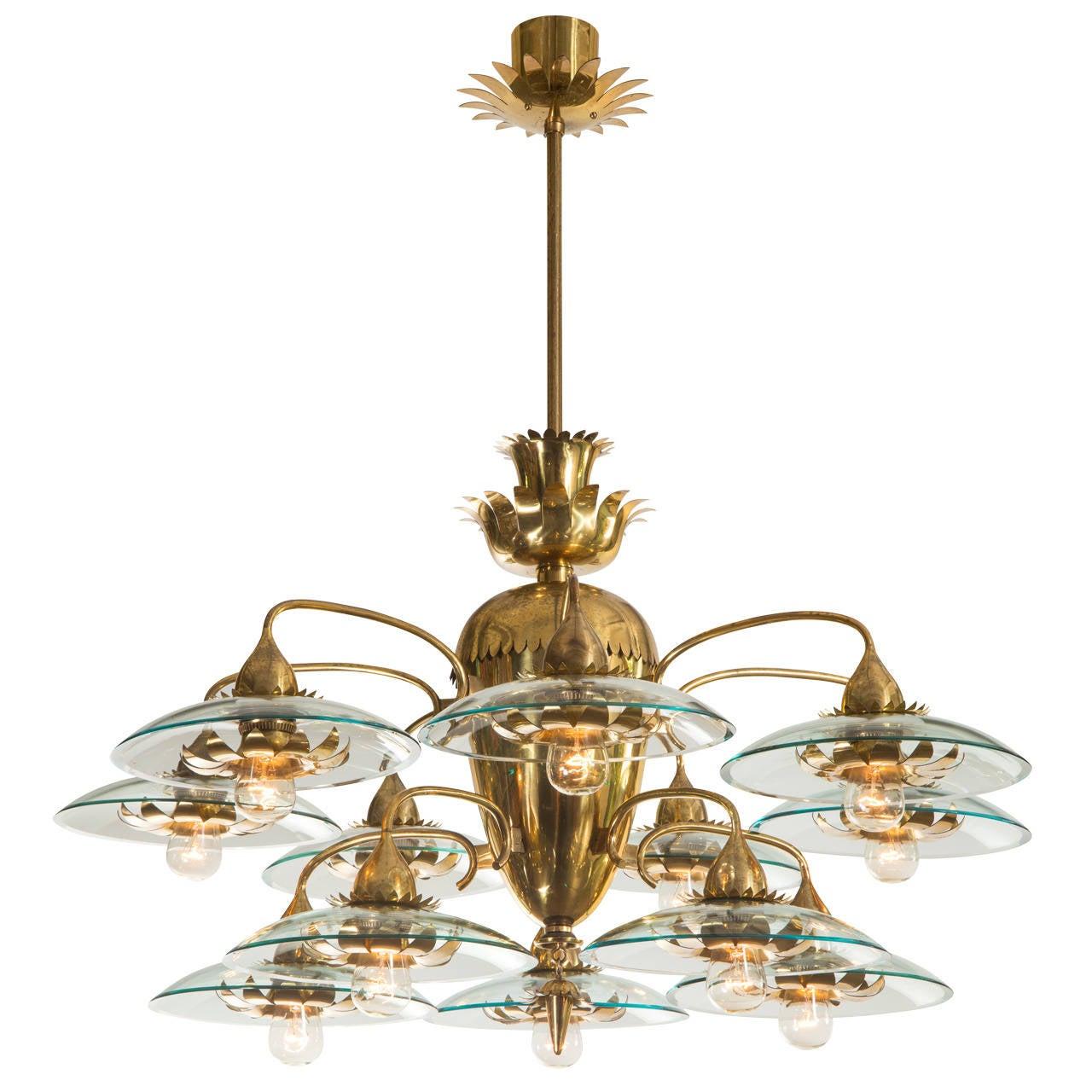 pietro chiesa for fontana arte a rare italian brass and. Black Bedroom Furniture Sets. Home Design Ideas