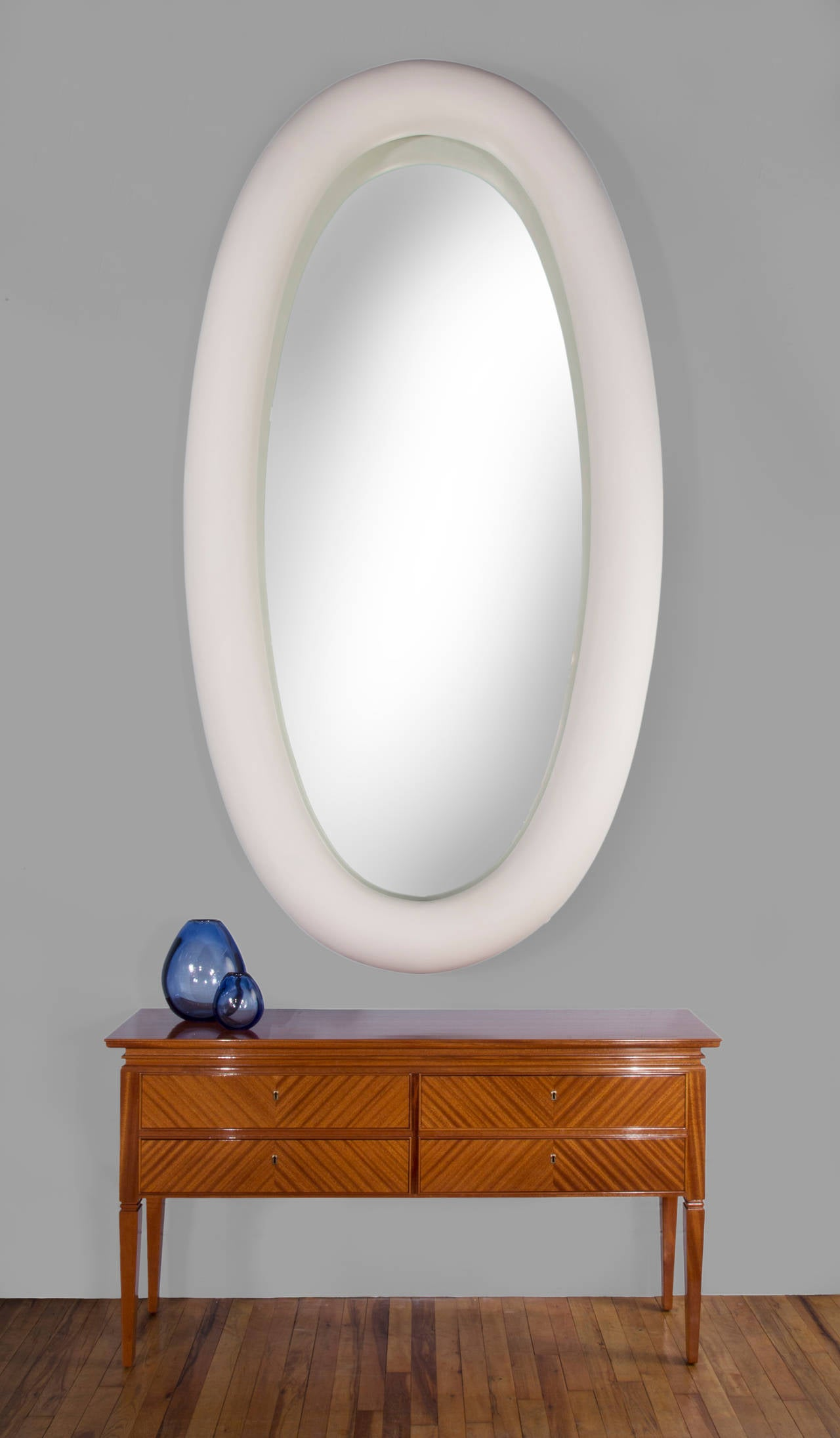 Modern Garouste & Bonetti, Unique and Monumental French Plaster Mirror For Sale