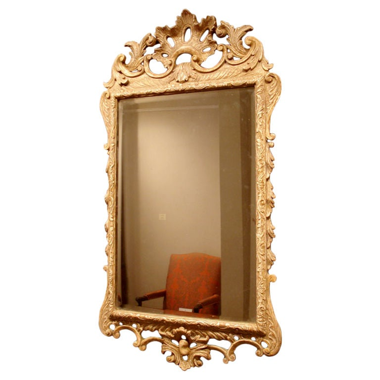 A transitional baroque and rococo mirror at 1stdibs for Baroque mirror