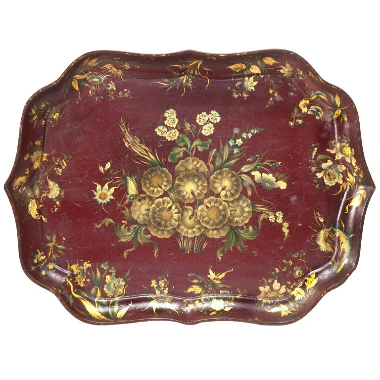 A Rare And Unusual Japanned Chinoiserie Papier Mache Tray Table At 1stdibs