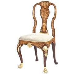 A Rare Marquetry Side Chair