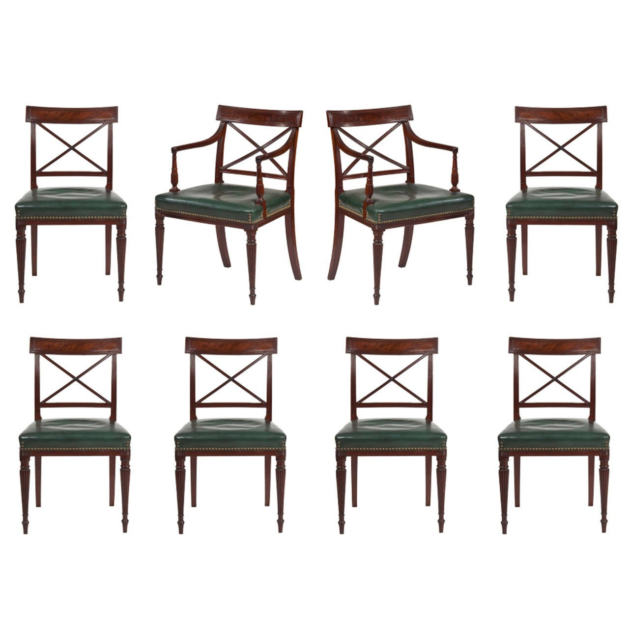 Regency dining chairs at 1stdibs for Regency furniture living room sets