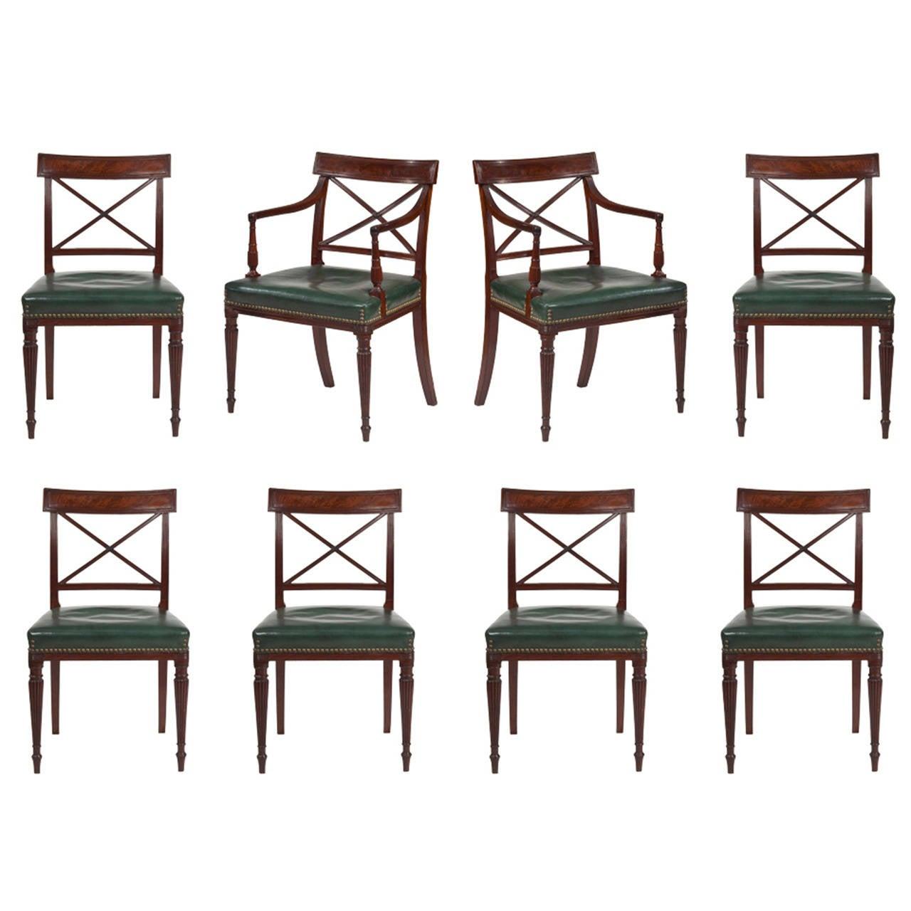 Regency dining chairs at 1stdibs for Regency dining room